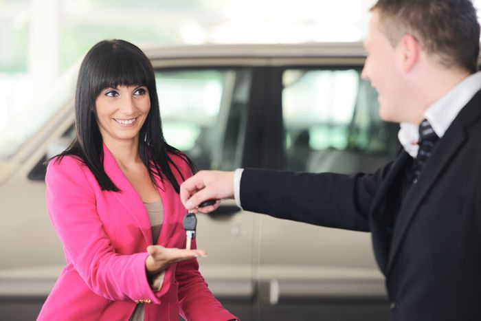 Auto Repair Woman Pickup Car